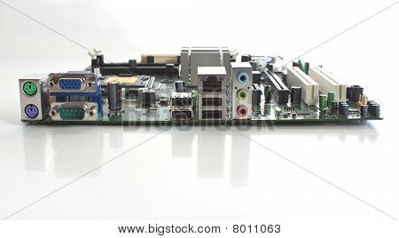 A Computer Mothboard End View