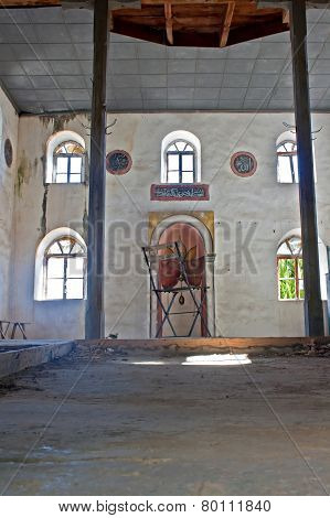 Old abandoned Greek Turkish mosque in Doganbey Aydin Turkey