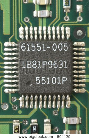 Chip Centered Green Circuit