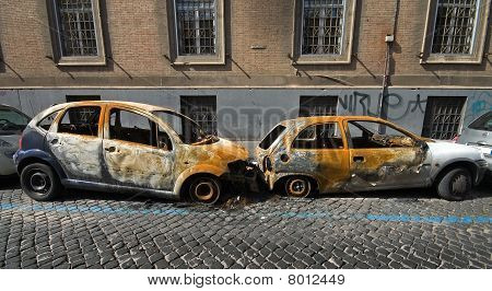 Two Vandalised Cars