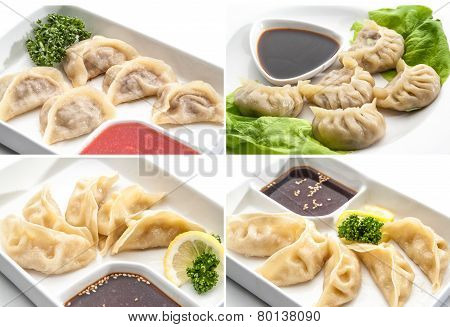 Set of meat dumplings