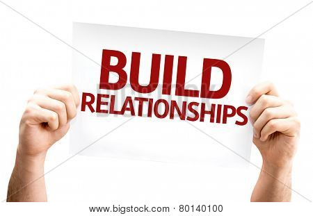 Build Relationships card isolated on white background