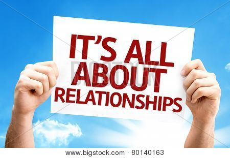 It's All About Relationships card with a beautiful day
