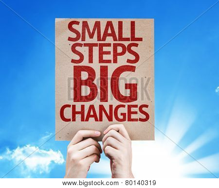 Small Steps Big Changes card with a beautiful day
