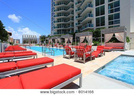 Luxury resort pool
