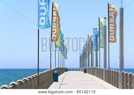 North Beach Pier In Durban, South Africa