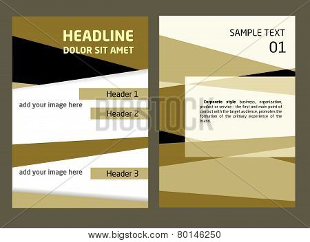 Brochure Flyer design vector template in A4 size. Abstract, dynamic template for design. Place for y