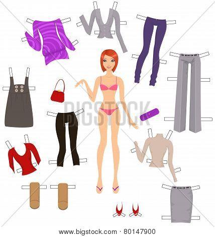 Dress-up Paper Doll