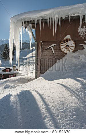 Icy House In The Alps