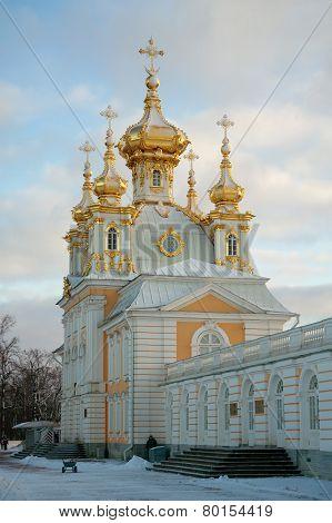Church Of The Big Palace, Peterhof, Russia