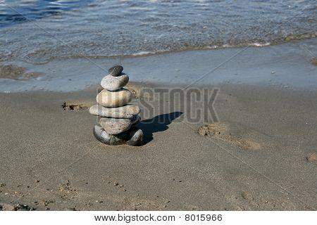 Zen Symbol And Footprints