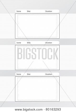 Storyboard Template Vertical 3 frames with Notes Space