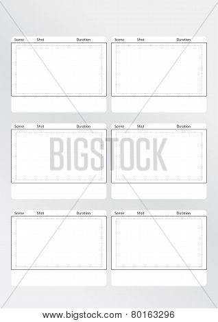 Storyboard Template Vertical 6 frames