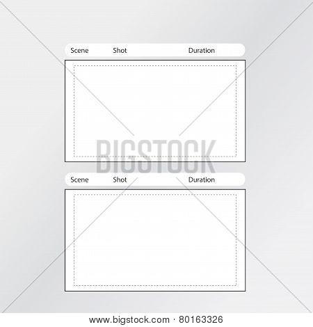 Storyboard Template 2 frames
