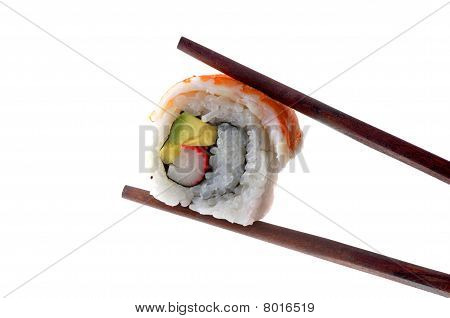 chopsticks and sushi