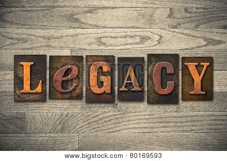 Legacy Concept Wooden Letterpress Type