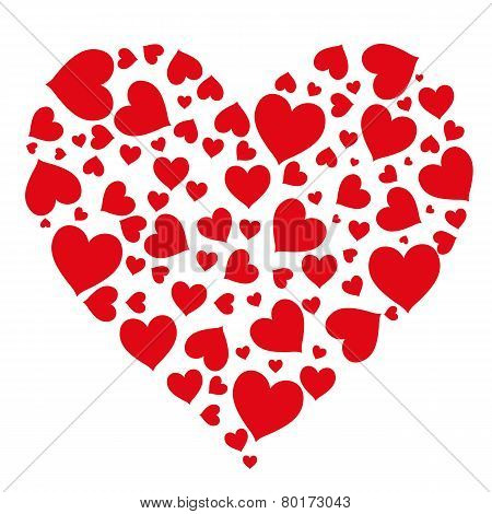 Pattern Of Hearts Isolated Object Vector