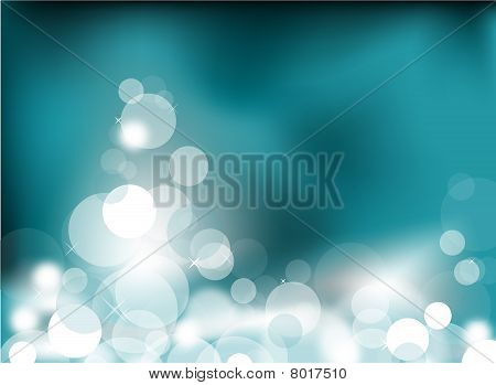 Abstract glowing light on a teal background poster