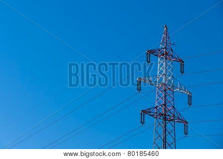 pylon red and white, a symbol of power, power, electromagnetic