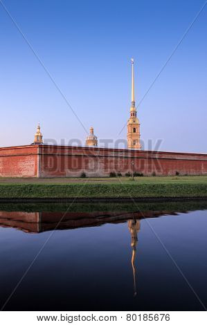 Pater and Paul fortress, Saint Petersburg, Russia poster