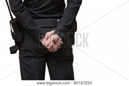 Police Officer Isolated On White Background