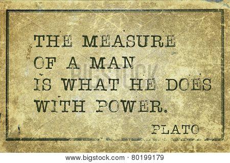 Man Measure Print