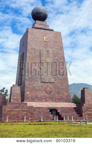 Center Of The World, Mitad Del Mundo, Front View, South America