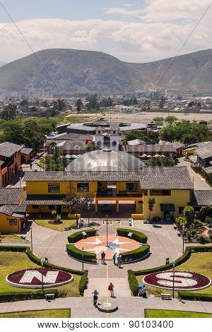 Mitad Del Mundo Village Is The Village Where The Equator Line Crosses, South America