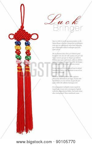 Red Chinese silk knot