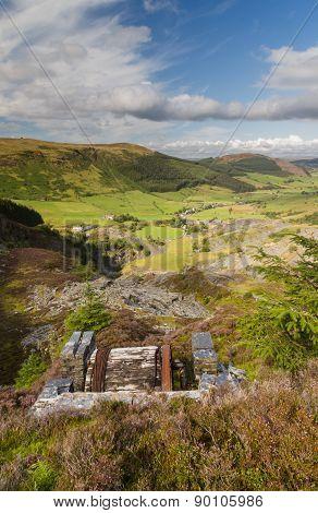 Cwm Penmachno, With Slate Quarry, Incline Drum House