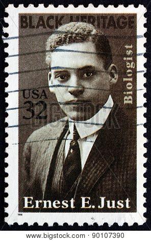 Postage Stamp Usa 1996 Ernest E. Just, Marine Biologist