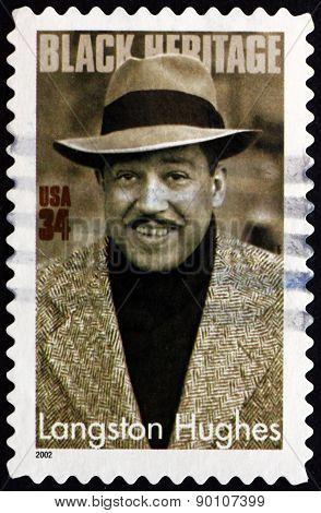 Postage Stamp Usa 2002 Langston Hughes, Writer