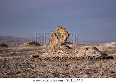 Rocky formations at the Moon Valley - Atacama Desert