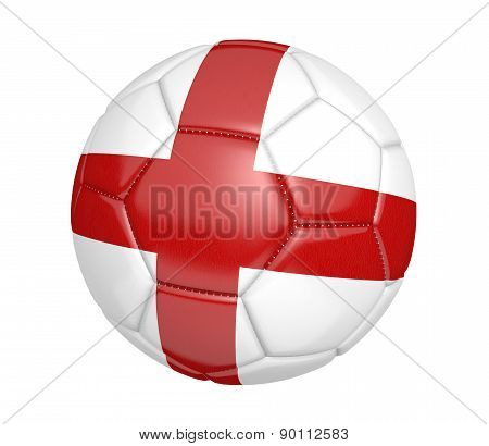 Soccer ball, or football, with the country flag of England