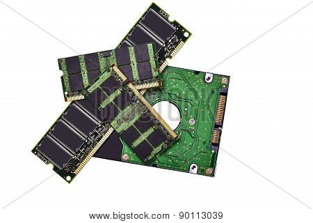 Memory Chips And Hard Drive