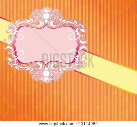 Wedding Card Floral Vector