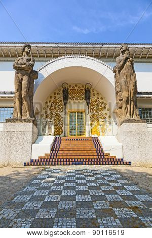 Famous Entrance To The Ernst-ludwig House At The Mathildenhoehe