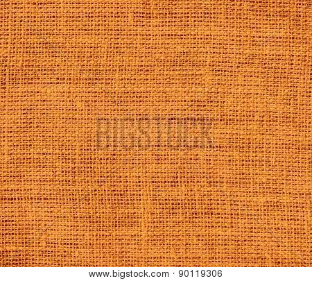 Cadmium orange color burlap texture background