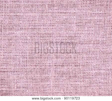 Cameo pink color burlap texture background