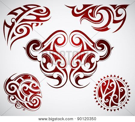 Maori tattoo shapes
