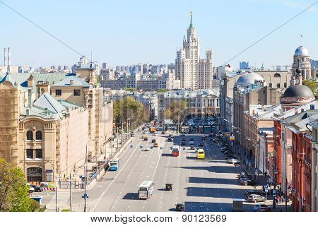 Cityscape With Lubyanka Square In Moscow