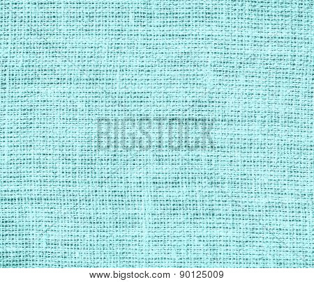 Celeste color burlap texture background