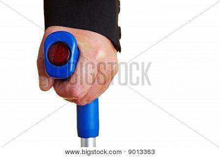 Hand On A Crutch