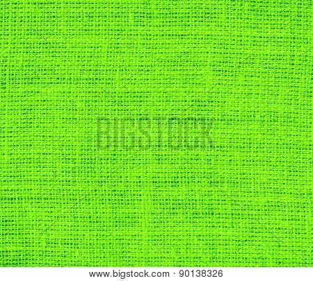 Chartreuse (web) color burlap texture background