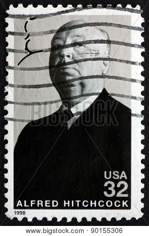 Postage Stamp Usa 1998 Sir Alfred Hitchcock, Film Director