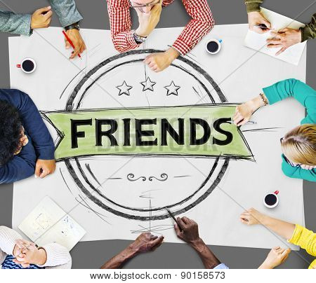 Friends Friendship Relationship Buddy Concept poster