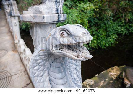 Cobra Head Sculpture Am Phu Cave Danang