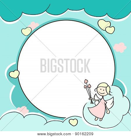 Circle Frame For Valentines Day