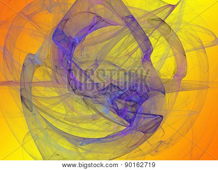 Fractal_color Abstract Composition With A Weak Blurriness.