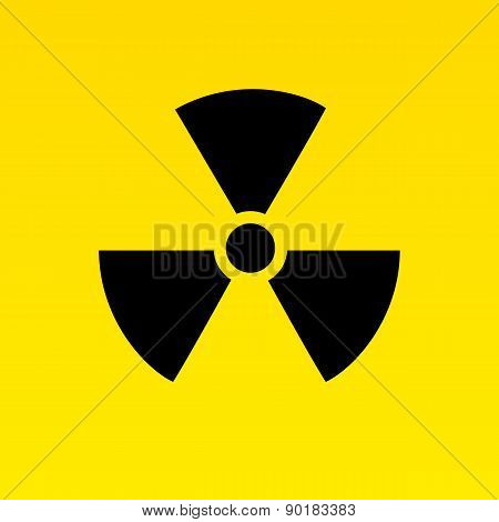 Radiation hazard signs. Vector illustration for your design and presentation. poster